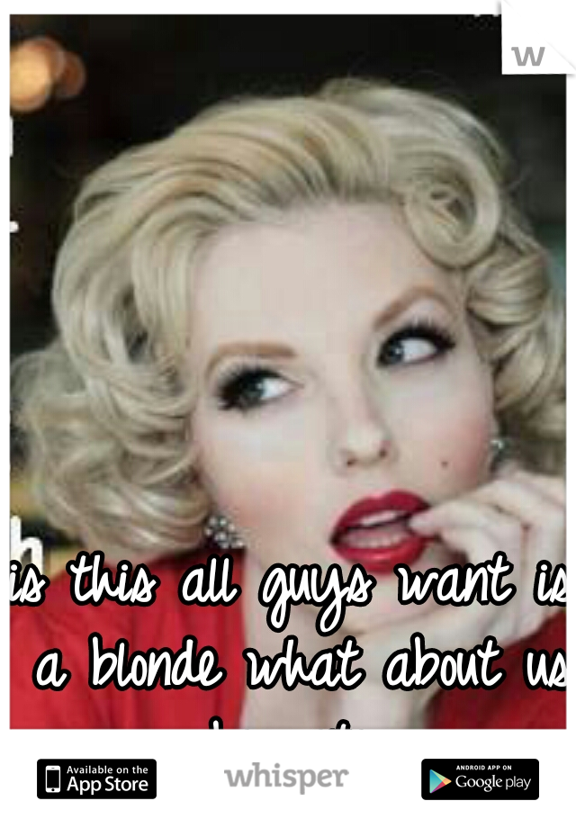 is this all guys want is a blonde what about us bernetes
