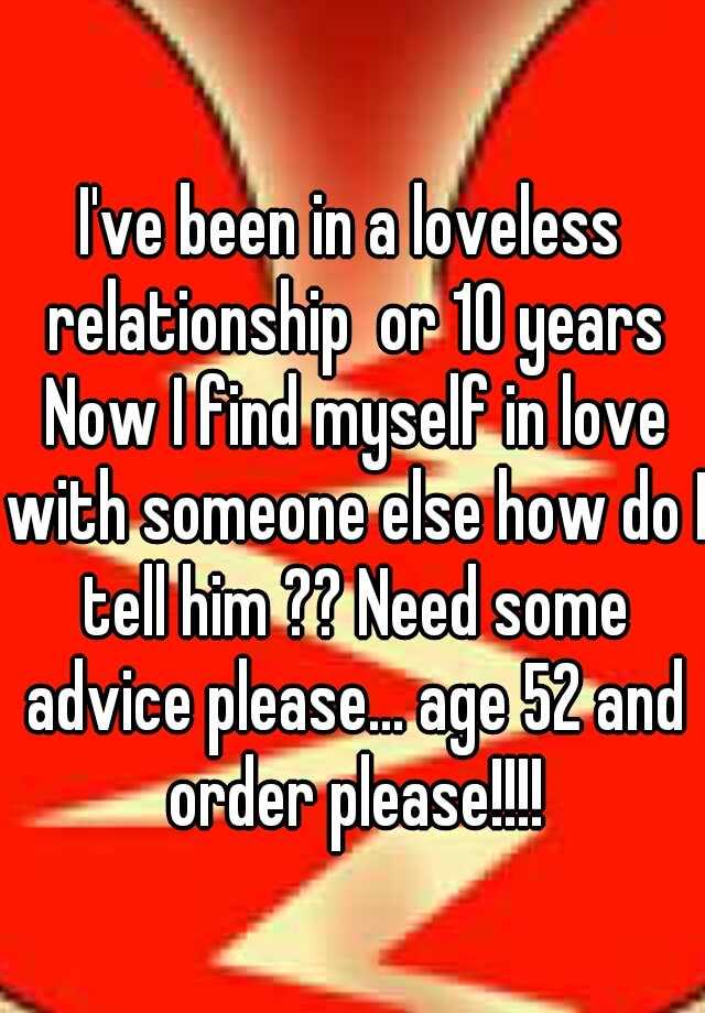 A loveless relationship