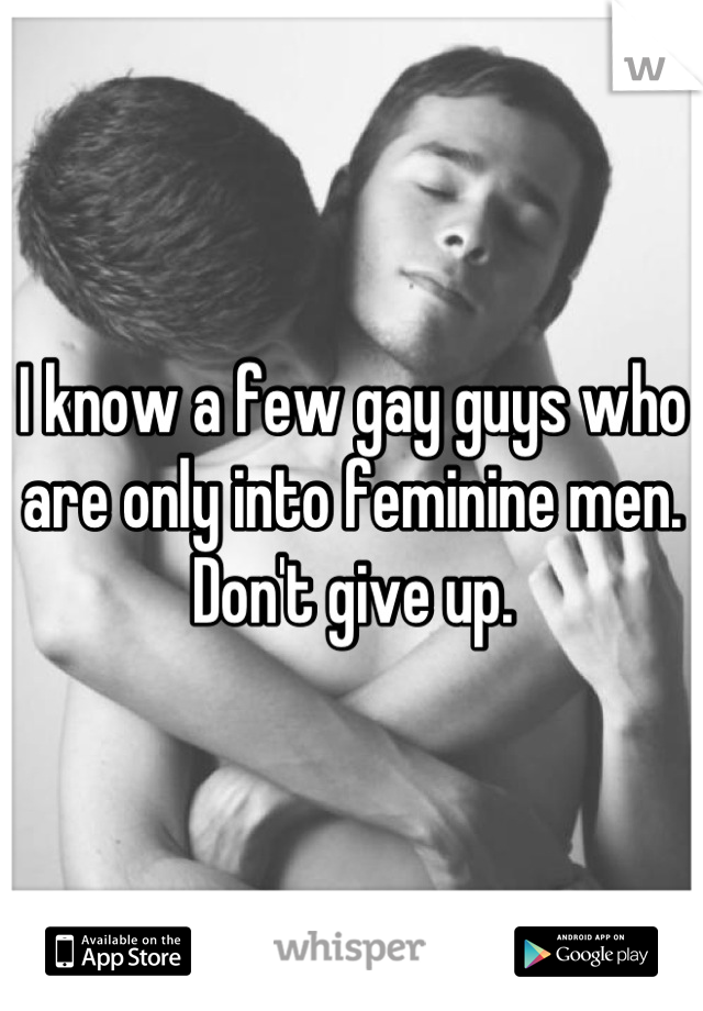 Guys who are gay
