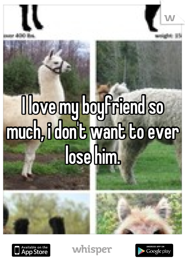 I love my boyfriend so much, i don't want to ever lose him.