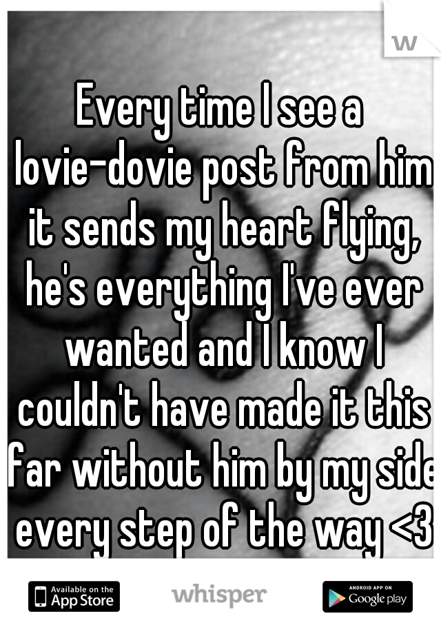 Every time I see a lovie-dovie post from him it sends my heart flying, he's everything I've ever wanted and I know I couldn't have made it this far without him by my side every step of the way <3