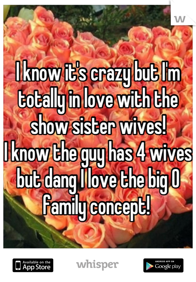 I know it's crazy but I'm totally in love with the show sister wives! I know the guy has 4 wives but dang I love the big O family concept!