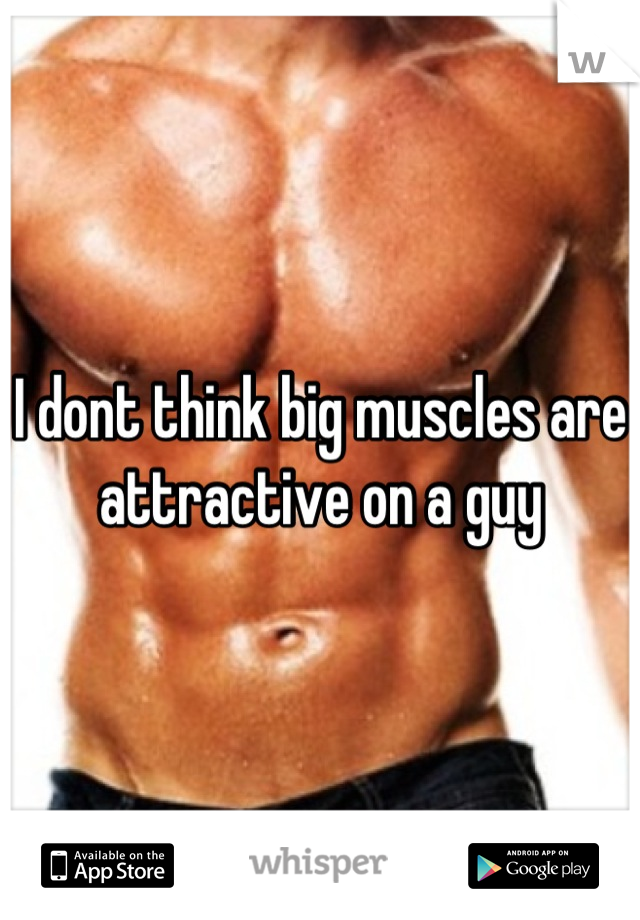 I dont think big muscles are attractive on a guy