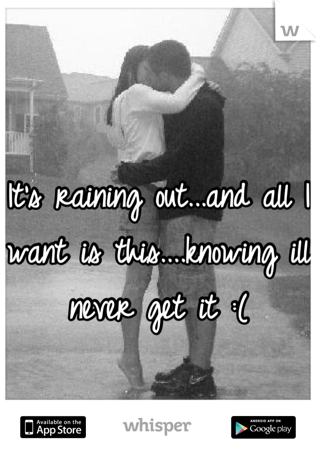 It's raining out...and all I want is this....knowing ill never get it :(