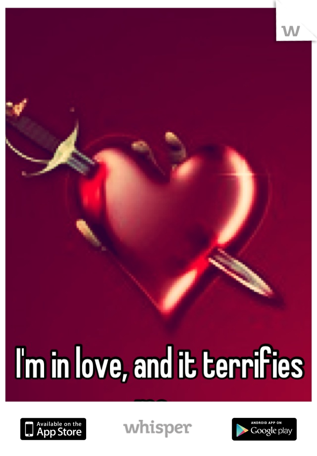 I'm in love, and it terrifies me...