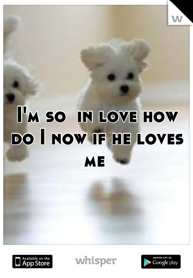 I'm so  in love how do I now if he loves me