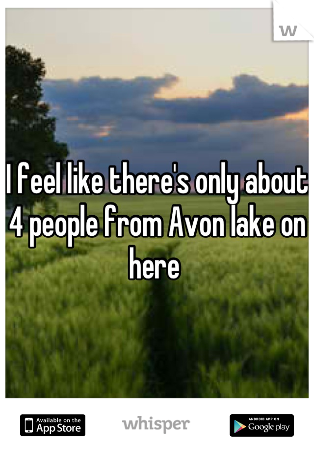 I feel like there's only about 4 people from Avon lake on here