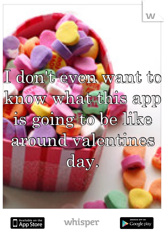 I don't even want to know what this app is going to be like around valentines day.