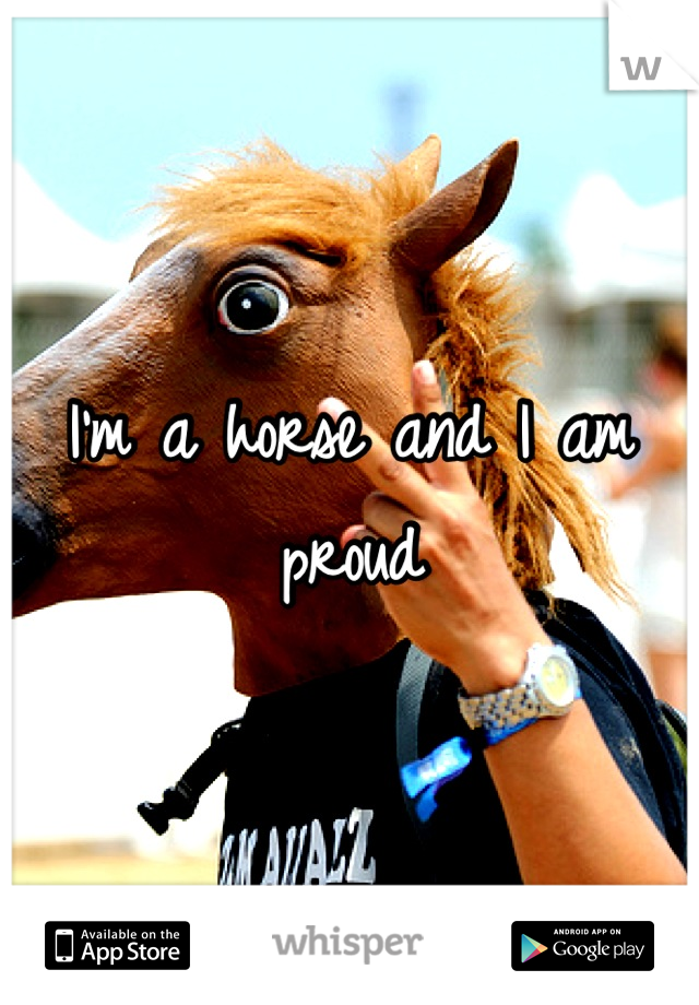 I'm a horse and I am proud