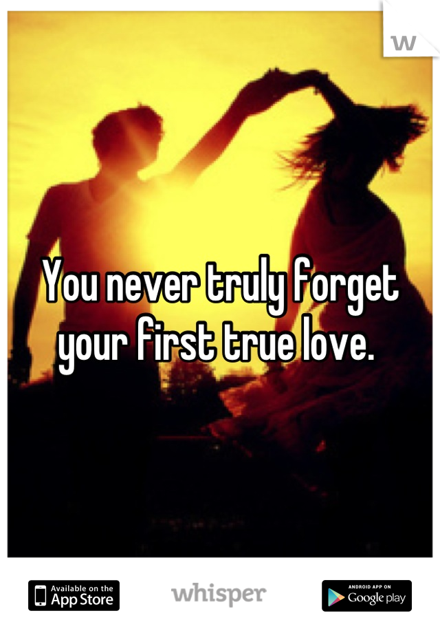 You never truly forget your first true love.