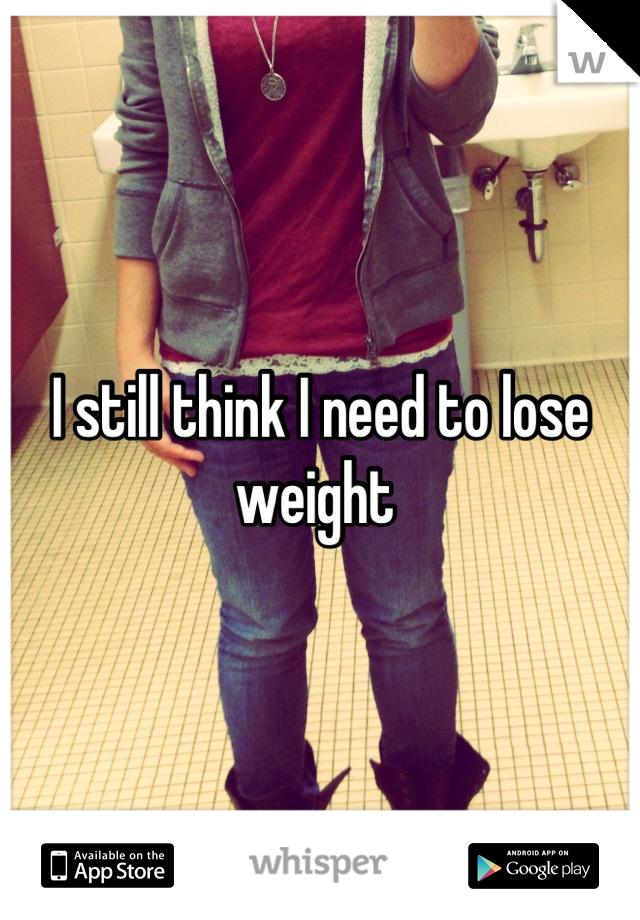 I still think I need to lose weight