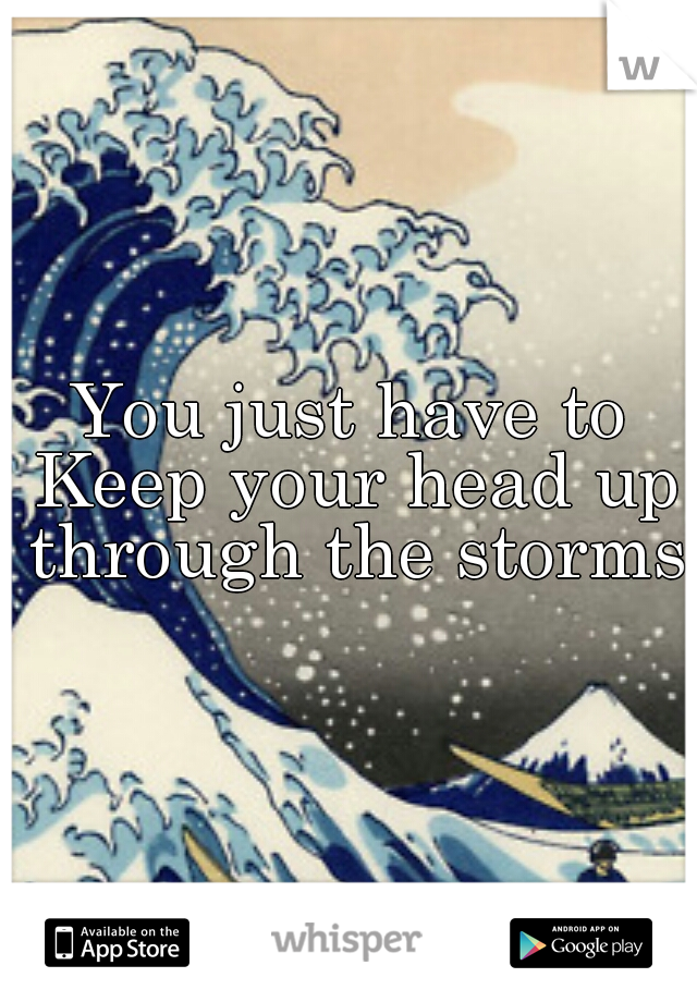 You just have to Keep your head up through the storms