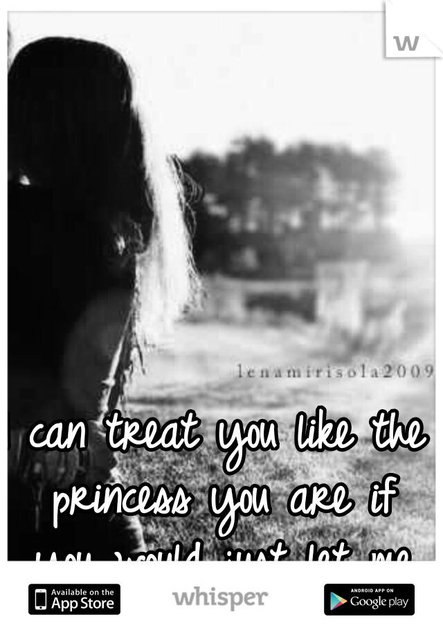 I can treat you like the princess you are if you would just let me