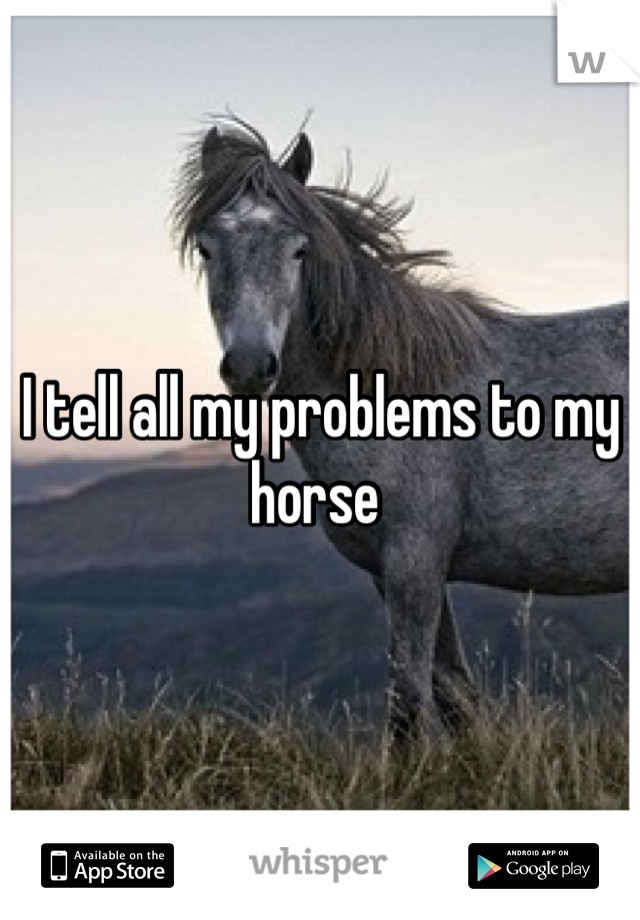 I tell all my problems to my horse