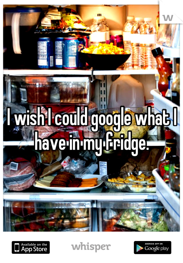 I wish I could google what I have in my fridge.