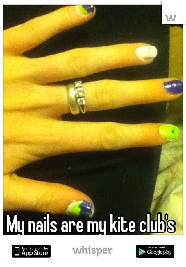 My nails are my kite club's colors. <3