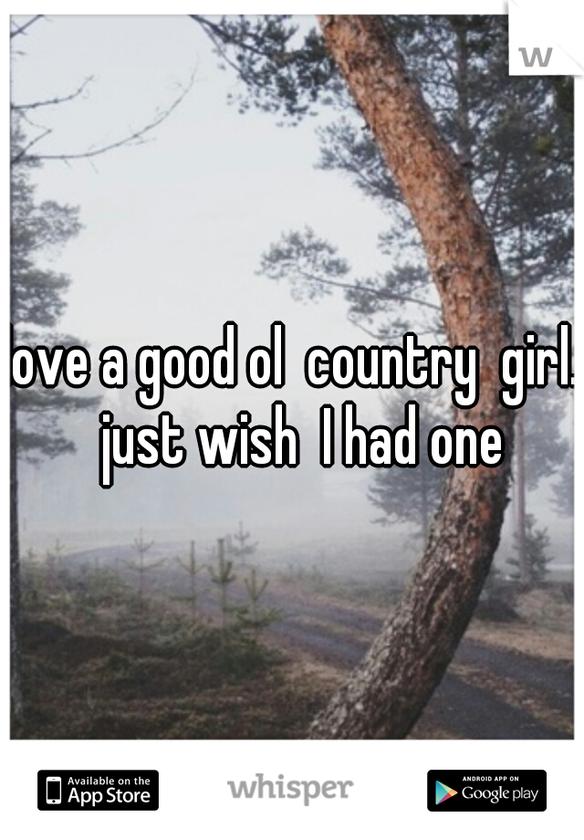 love a good ol  country  girl.  just wish  I had one