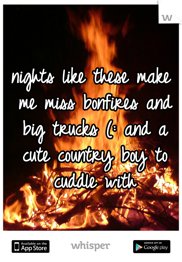nights like these make me miss bonfires and big trucks (: and a cute country boy to cuddle with