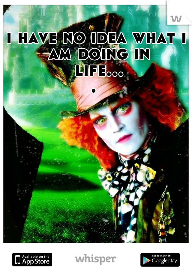 i have no idea what i am doing in life....