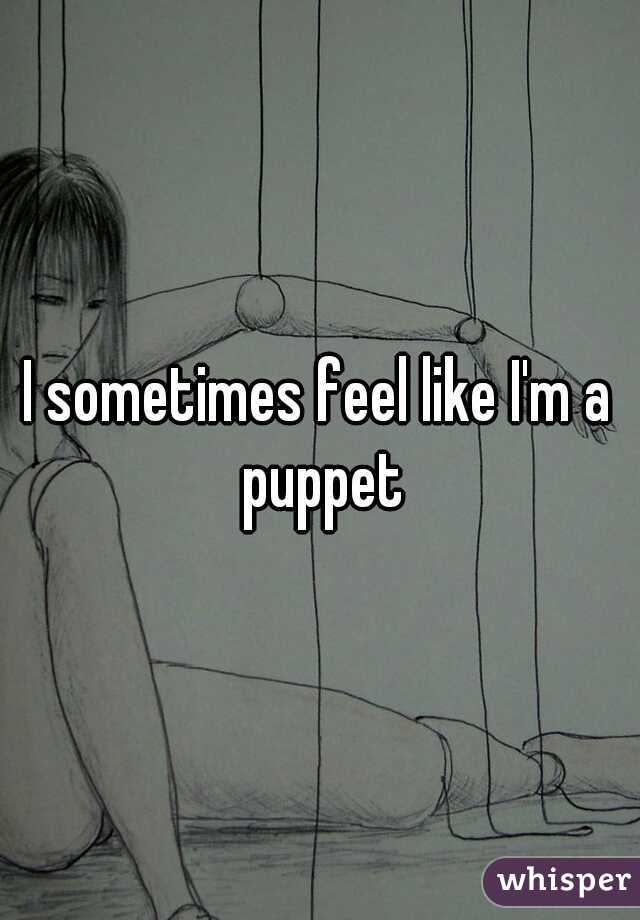 I sometimes feel like I'm a puppet