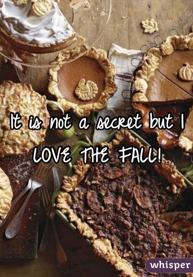 It is not a secret but I LOVE THE FALL!