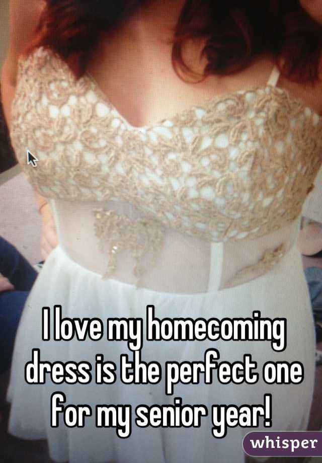 I love my homecoming dress is the perfect one for my senior year!