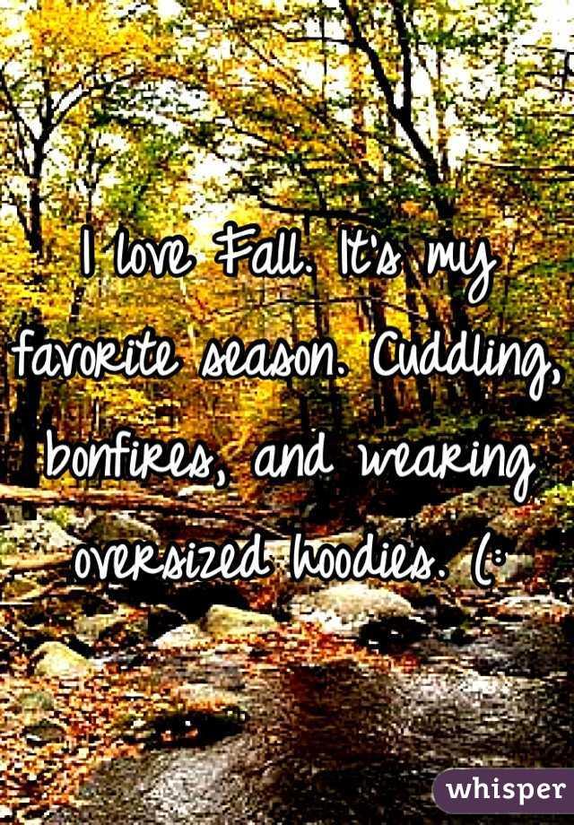 I love Fall. It's my favorite season. Cuddling, bonfires, and wearing oversized hoodies. (:
