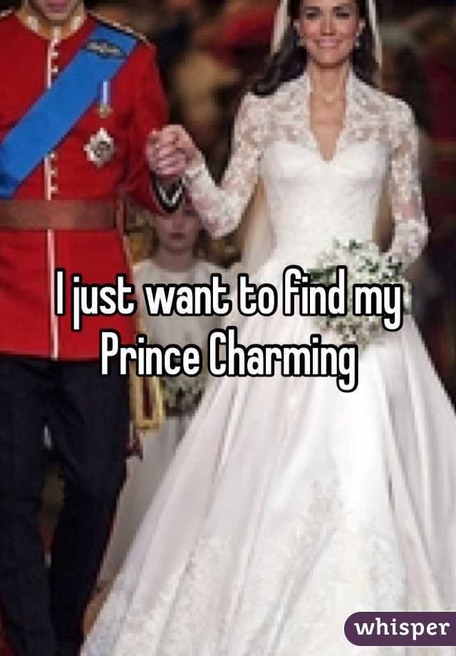 I just want to find my Prince Charming