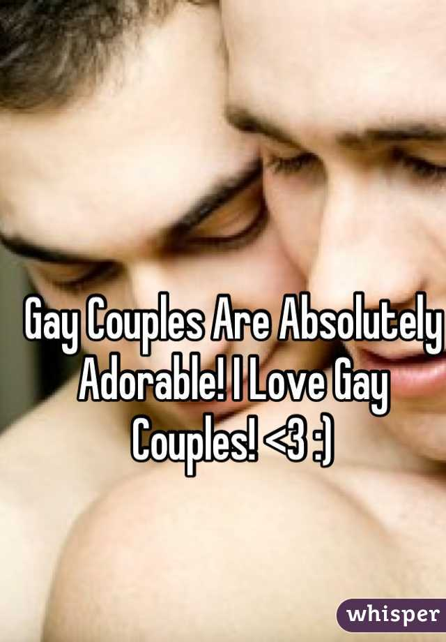 Gay Couples Are Absolutely Adorable! I Love Gay Couples! <3 :)