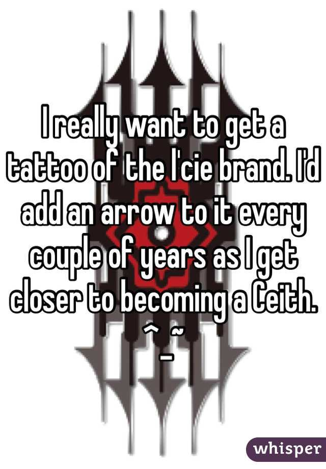 I really want to get a tattoo of the l'cie brand. I'd add an arrow to it every couple of years as I get closer to becoming a Ceith. ^_~