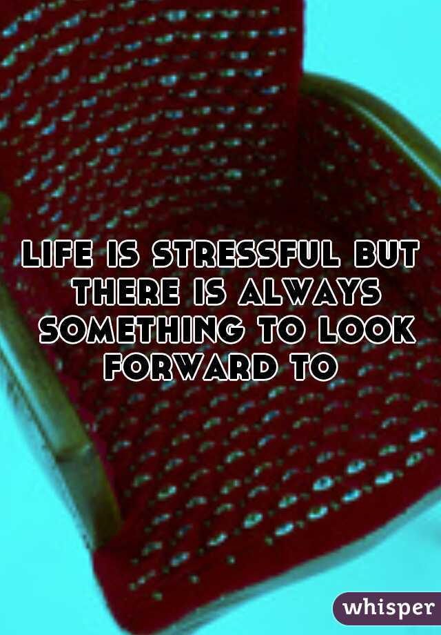 life is stressful but there is always something to look forward to