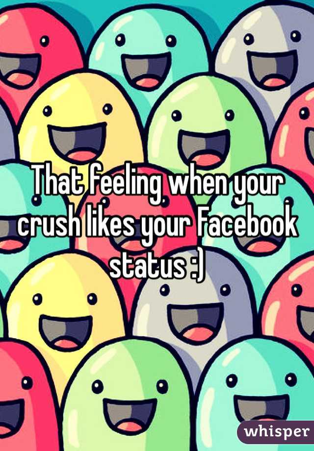 That feeling when your crush likes your Facebook status :)