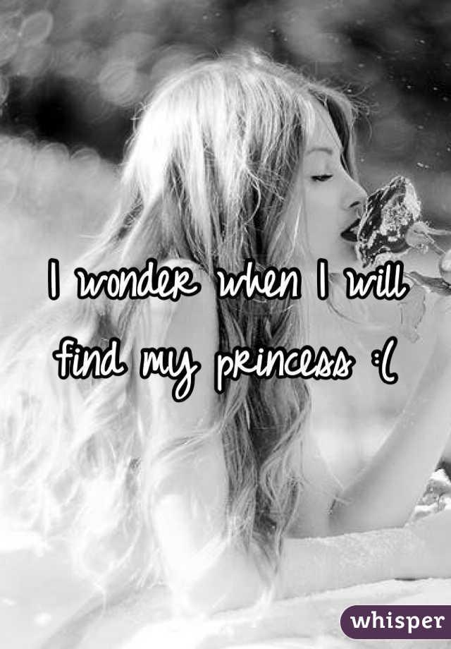 I wonder when I will find my princess :(