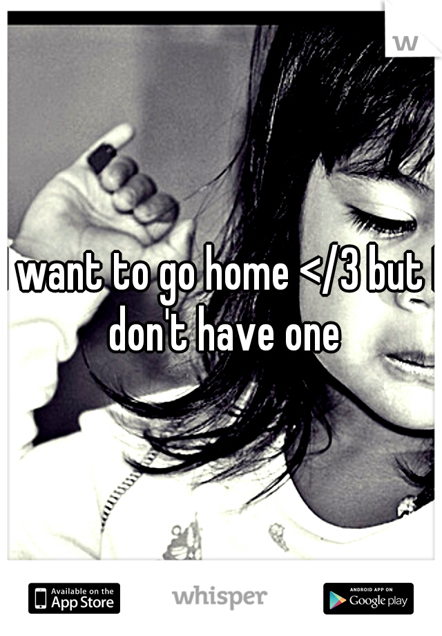 I want to go home </3 but I don't have one