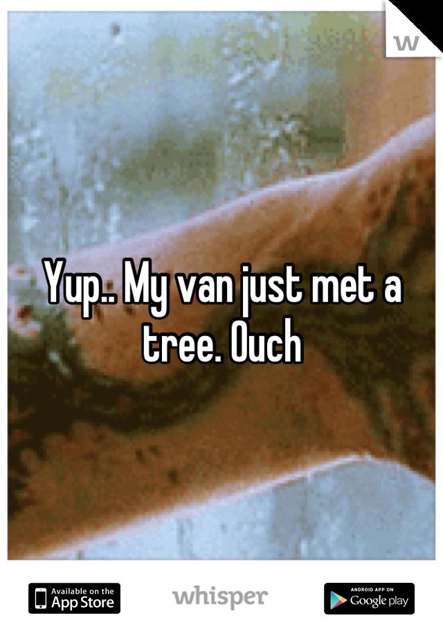 Yup.. My van just met a tree. Ouch
