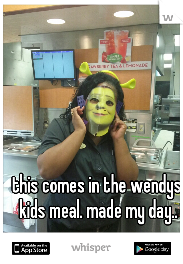 this comes in the wendys kids meal. made my day..