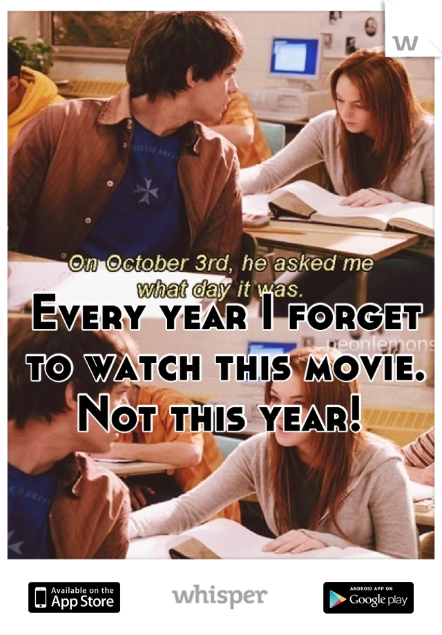 Every year I forget to watch this movie. Not this year!