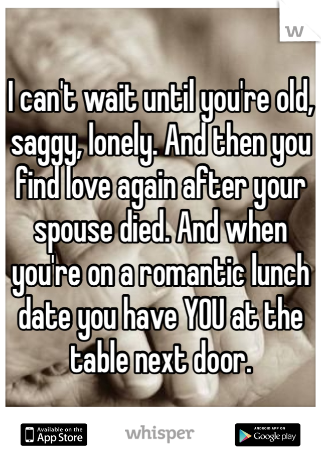 Dating after spouse dies