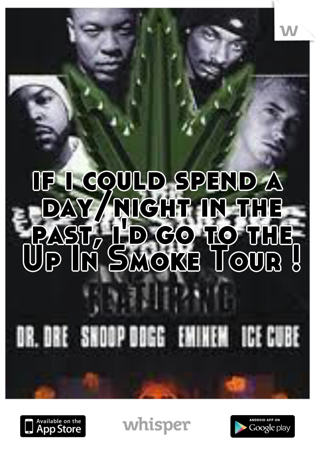 if i could spend a day/night in the past, i'd go to the Up In Smoke Tour !
