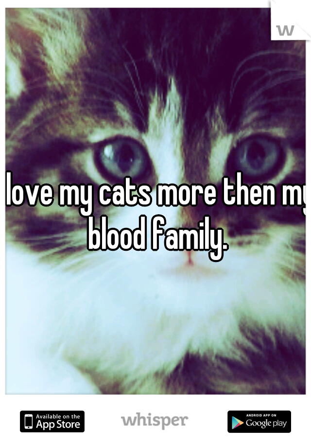 I love my cats more then my blood family.