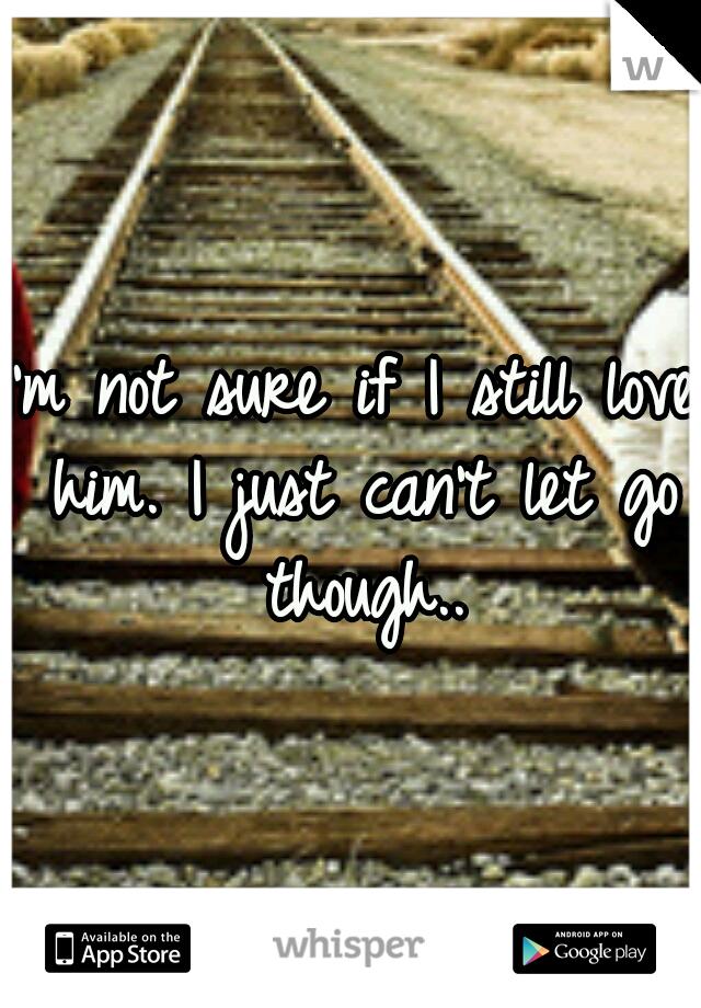 I'm not sure if I still love him. I just can't let go though..