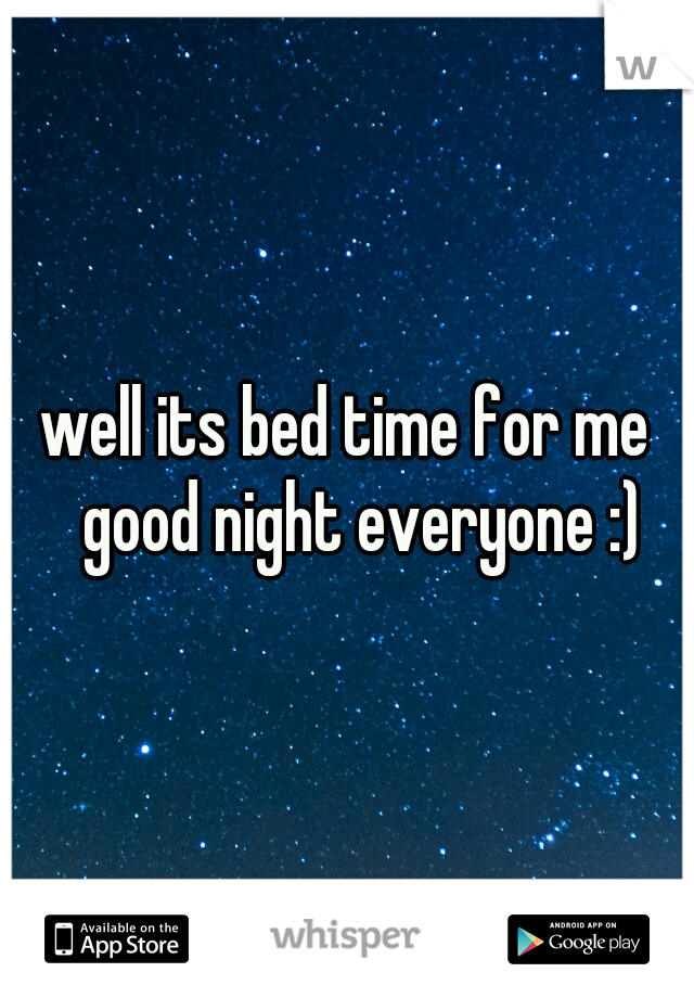 well its bed time for me  good night everyone :)