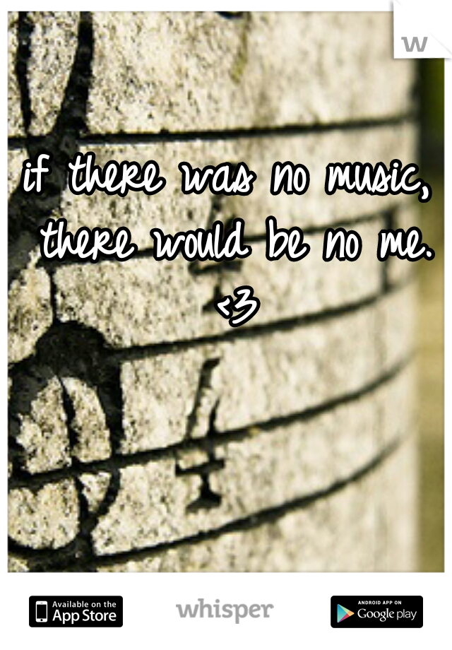 if there was no music, there would be no me. <3