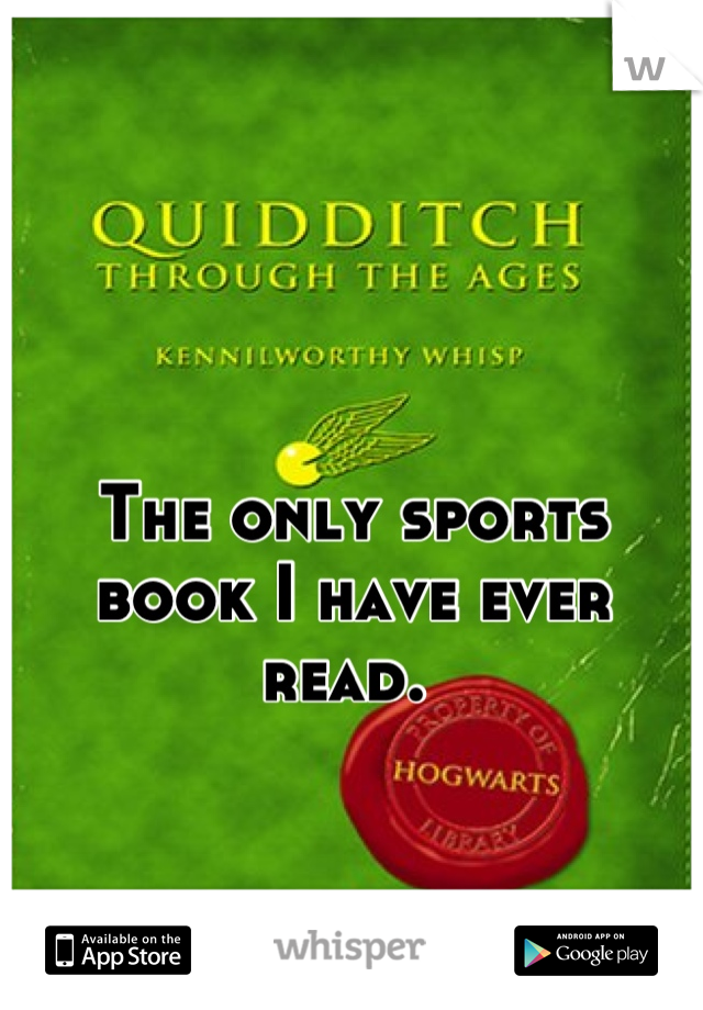 The only sports book I have ever read.