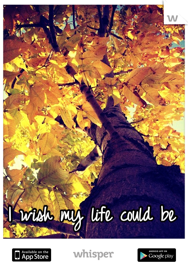 I wish my life could be a fairy tale