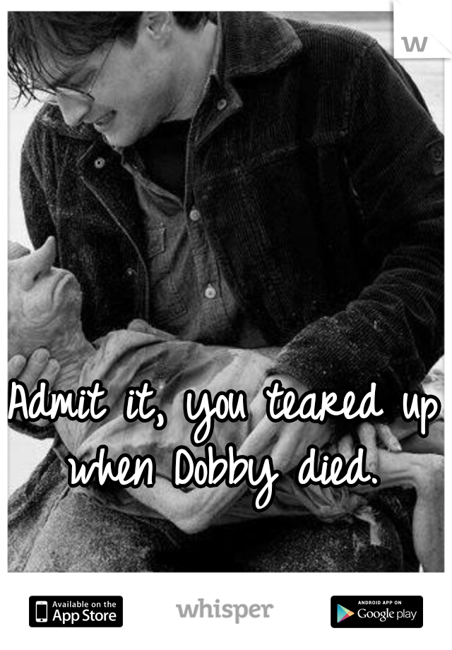 Admit it, you teared up when Dobby died.