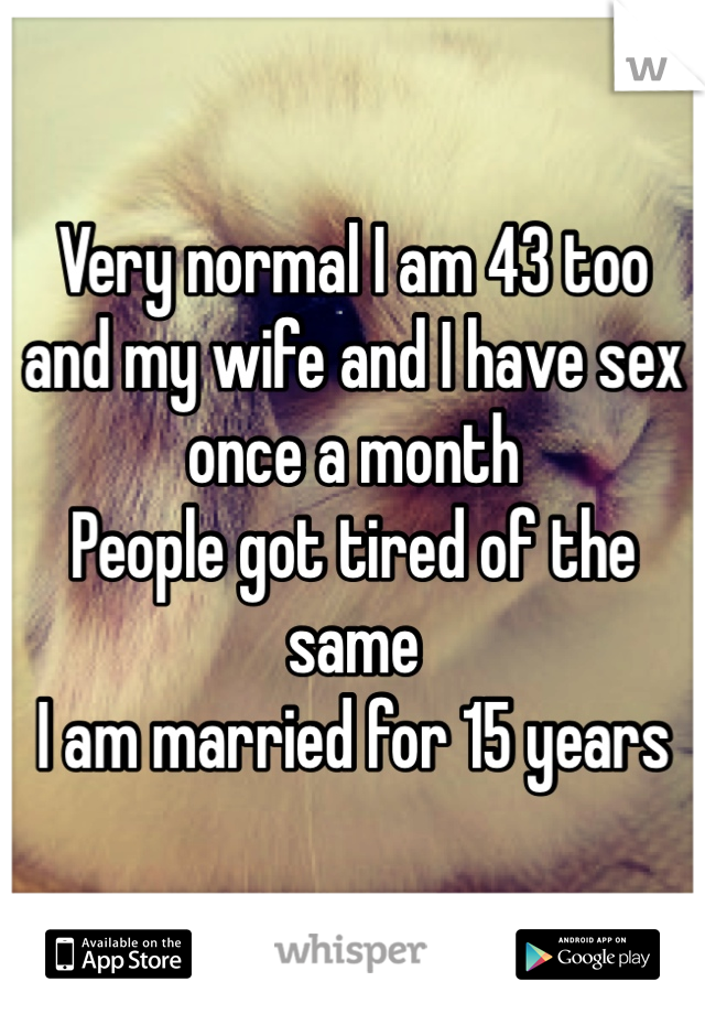 Married sex once a month