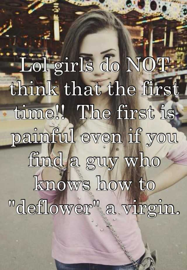 How to deflower a woman