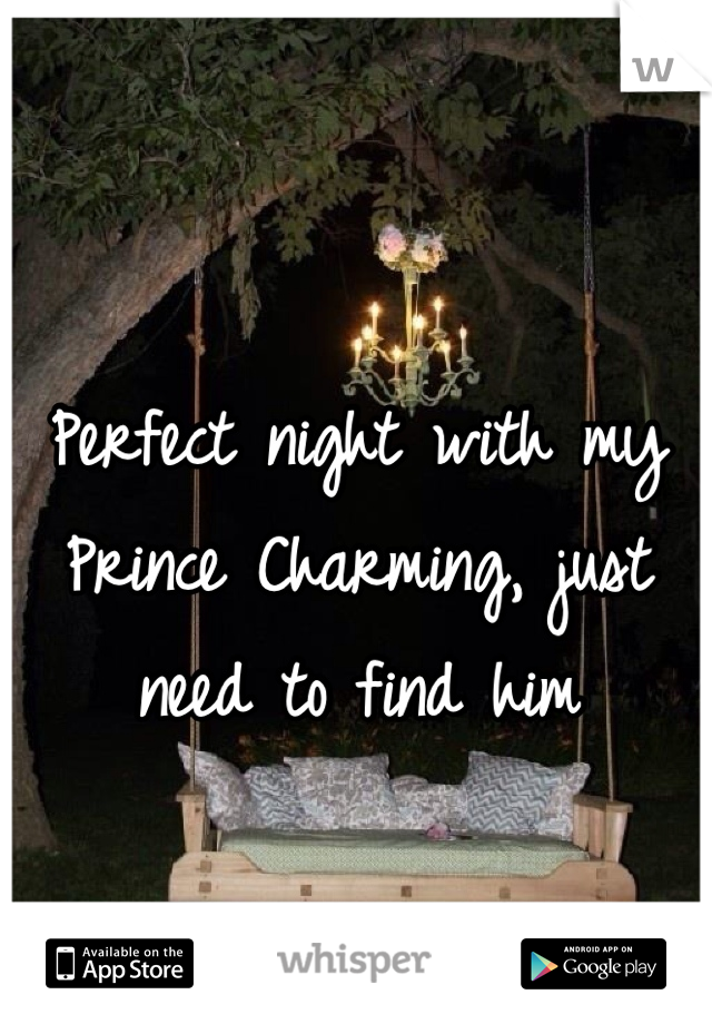 Perfect night with my Prince Charming, just need to find him