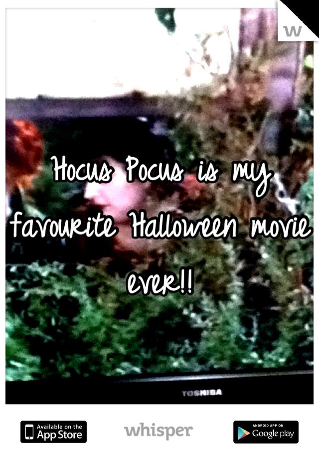 Hocus Pocus is my favourite Halloween movie ever!!